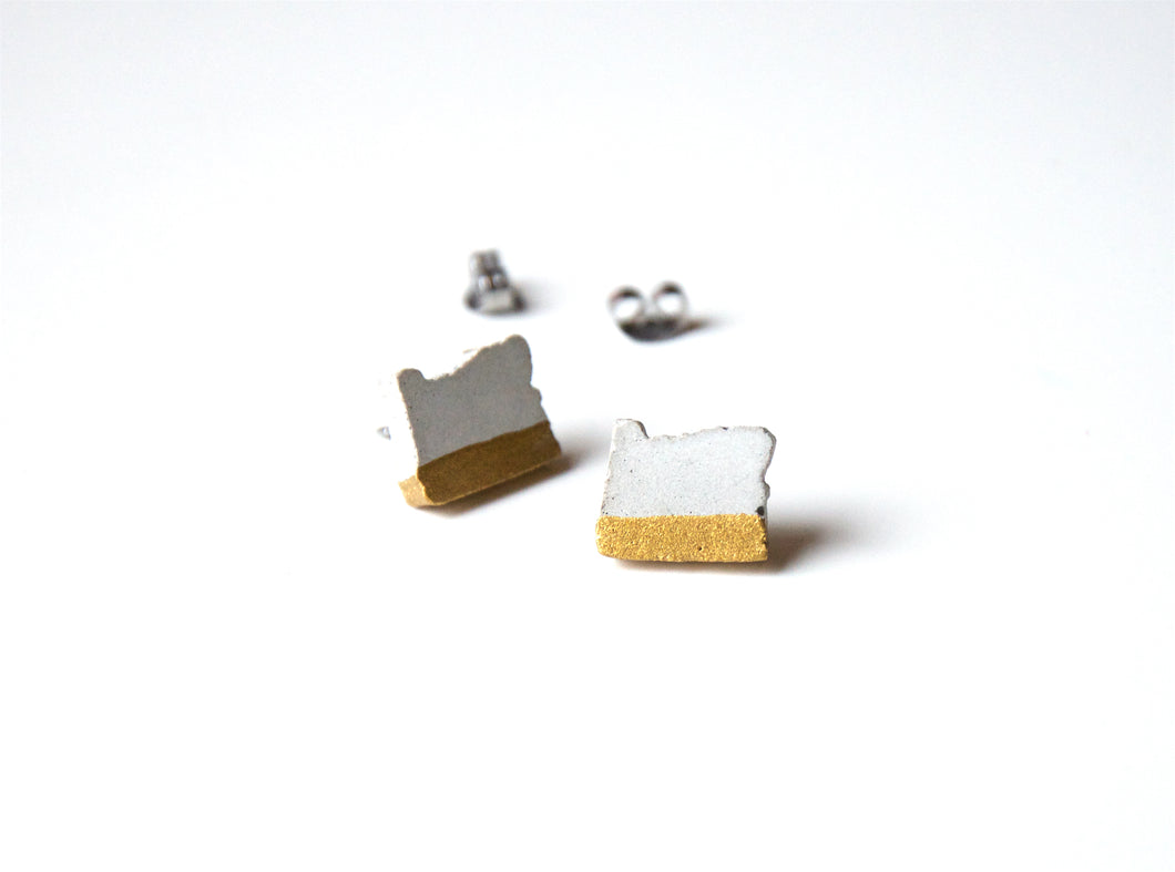 OREGON Concrete Earrings