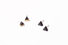 Load image into Gallery viewer, BLACK CONCRETE TRIANGLE EARRINGS