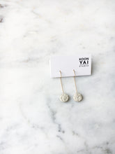 Load image into Gallery viewer, Circle Concrete Earrings Hypoallergenic Architectural Industrial Minimalist Gold Simple Geometry