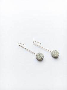 Circle Concrete Earrings Hypoallergenic Architectural Industrial Minimalist Gold Simple Geometry