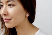 Load image into Gallery viewer, Square Concrete Earrings Minimalist Geometric Studs Hypoallergenic
