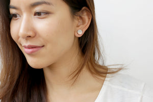 RAW CONCRETE CIRCLE EARRINGS