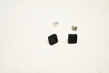 Load image into Gallery viewer, BLACK CONCRETE SQUARE EARRINGS
