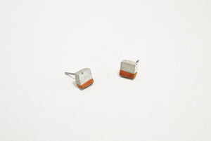 RAW CONCRETE SQUARE EARRINGS