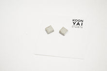 Load image into Gallery viewer, RAW CONCRETE SQUARE EARRINGS