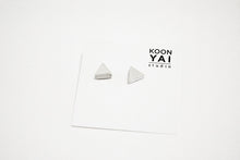 Load image into Gallery viewer, RAW CONCRETE TRIANGLE EARRINGS