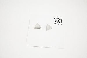 RAW CONCRETE TRIANGLE EARRINGS