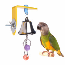Load image into Gallery viewer, Parrot Bell Toys Birds Chewing Hanging Swing Cage Toy Bite Accessories Parakeet Beads Cockatiel Play Toy Pet Bird Supplies C42