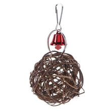 Load image into Gallery viewer, Cockatiel Parrot Toys Wooden Steel Hanging Bell Cage Toys for Parrots Bird Squirrel Funny Chain Swing Toy Pet Bird Supplies