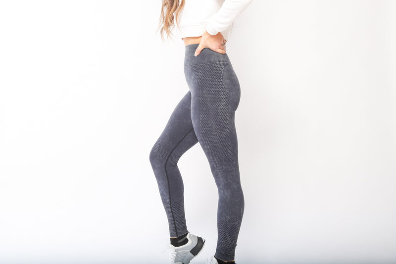 Flex Seamless Leggings - Black Ice