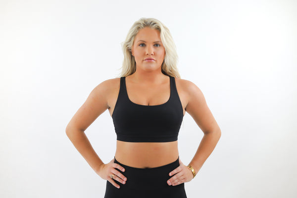 LUX Sports Bra - Shadow Black