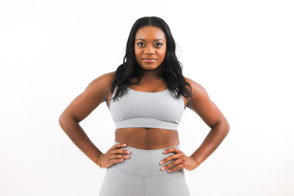 LUX Sports Bra - Smoke Gray