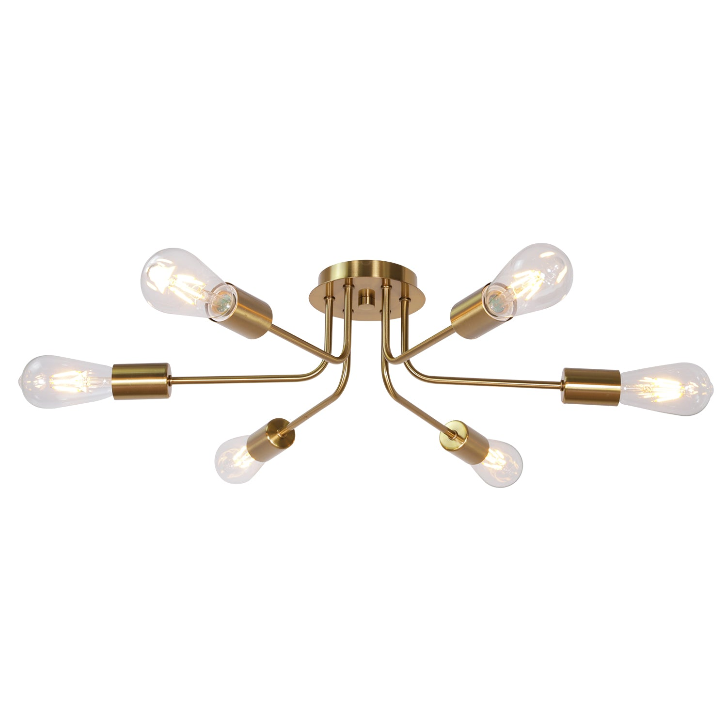 Ceiling Light Fixture Sputnik Light 6 Lights Brass Bedroom Lights Flush Mount Ceiling Light Modern Ceiling Lights Modern Light Fixtures Bonlicht Lighting