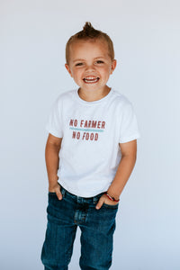 Kids No Farmer No Food Graphic Tee - Unisex