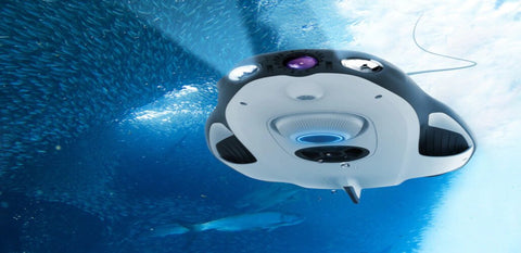 Specialized Fishing and Human Diving Drones Swim Assist Robots Underwater