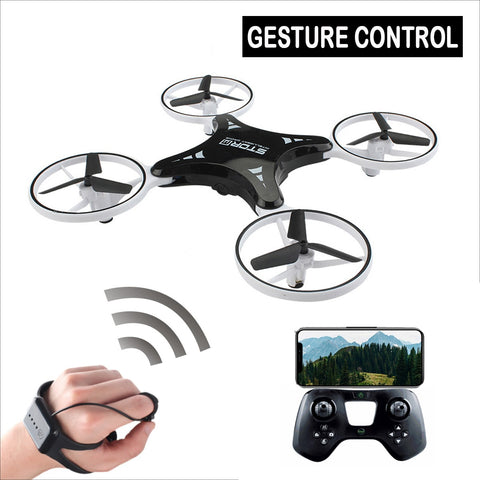 Mini Smart Gesture UFO Camera Drone with LED Lights