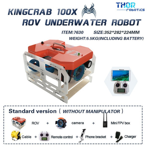 King Crab Underwater Camera Drone with 4K Sea Starlight Lens