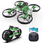 Transforming Speeder Bike Drone with RC (blue or green)