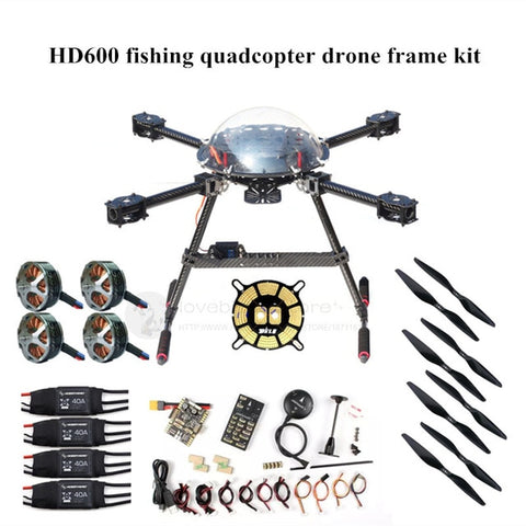 DIY HD600 fishing drone quadcopter frame kit