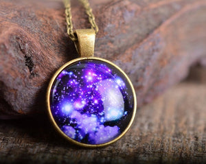 Galaxy necklace, space necklace, nebula necklace, sky necklace, galaxy jewelry, space jewelry, galaxy pendant, space pendant, stars necklace