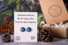 Load image into Gallery viewer, Space earrings, best friend gift, meaningful gift, gift for women, birthday gift for her, friend jewelry, good friends are like stars