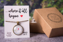 Load image into Gallery viewer, Personalized map gift, personalized jewelry, girlfriend gift, gift for wife, gift for women, personalized necklace, anniversary gift for her