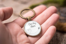 Load image into Gallery viewer, Long distance relationship gift, love keychain, boyfriend gift, girlfriend gift, gift for men, gift for him, gift for her, one day closer