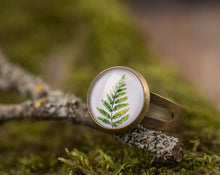 Load image into Gallery viewer, Fern ring, adjustable ring, statement ring, gift for women, birthday gift for her, mother gift, sister gift, daughter gift, mom gift