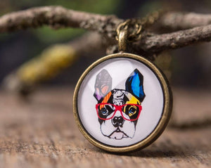 French bulldog necklace, gift for women, birthday gift for her, dog necklace, sister gift, friend gift, daughter gift, gift for mom