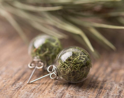 Moss earrings, birthday gift for women, gift for her, women gift, girlfriend gift, gift for mom, gift for sister, birthday gift for her
