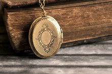 Load image into Gallery viewer, Milky way photo locket, antique brass photo locket, picture photo locket, milky way necklace, photo locket necklace, Some Magic