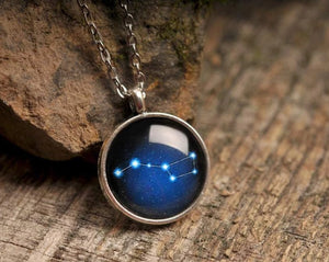 Ursa Major necklace, constellation necklace, stars necklace, night sky necklace, silver necklace, blue necklace, astronomical necklace