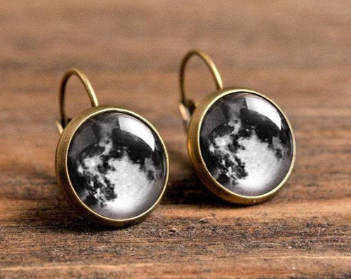 Moon earrings, full moon jewelry, gift for women, sister gift, birthday gift for her, moon jewelry, daughter gift, best friend gift
