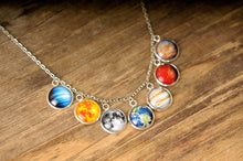 Load image into Gallery viewer, Solar system necklace, gift for women, statement jewelry, space necklace, statement necklace, solar system jewelry, birthday gift for her