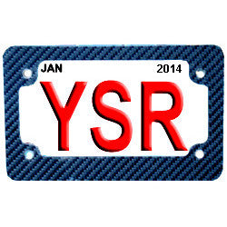 License Plate Frame-Carbon Fiber YSR