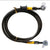 Steel Braided Brake Line Black NCY