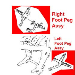Foot Peg Assy - Used