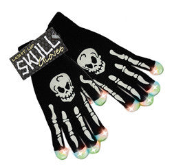"LED ""Skeleton"" Knit Gloves"
