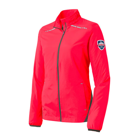 Carmel Marathon Ladies Zephyr 26.2 Reflective Full-Zip Light Weight Jacket