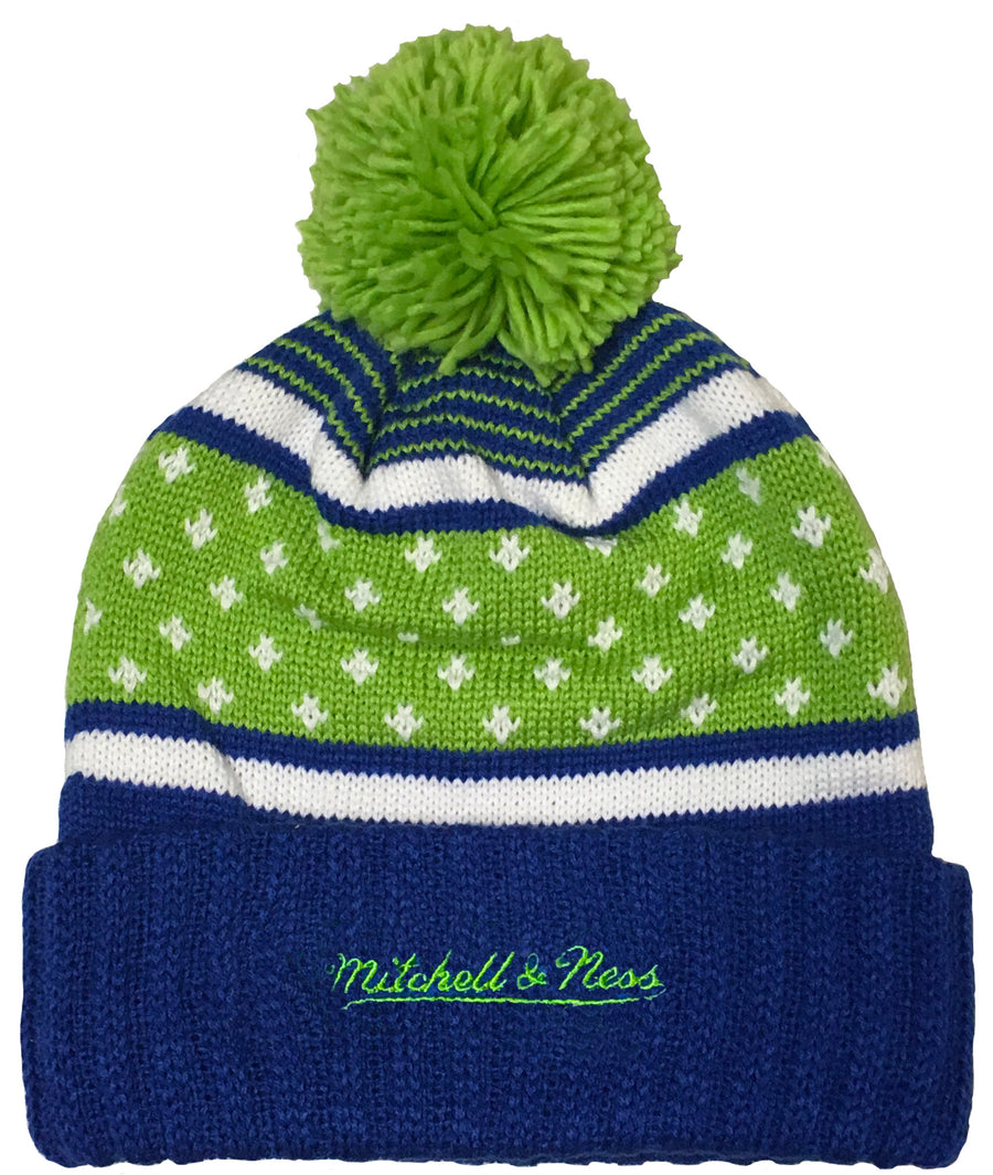 Mitchell & Ness Highlands Cuffed Pom Knit