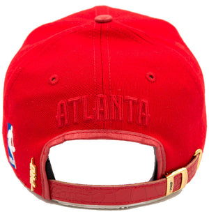 Pro Standard Red & Gold Premium Leather Bill Adjustable