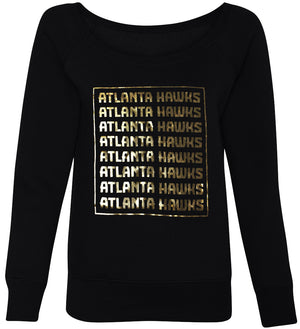 Ladies Wordmark Gold Foil Crewneck