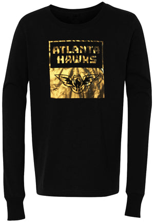Youth Gold Foil  Secondary Long Sleeve Tee