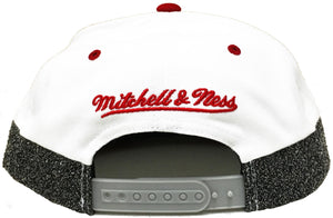 Mitchell & Ness White Static Cut And Sew Snapback