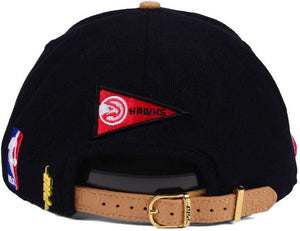 Pro Standard Black Old English Leather Bill Strapback