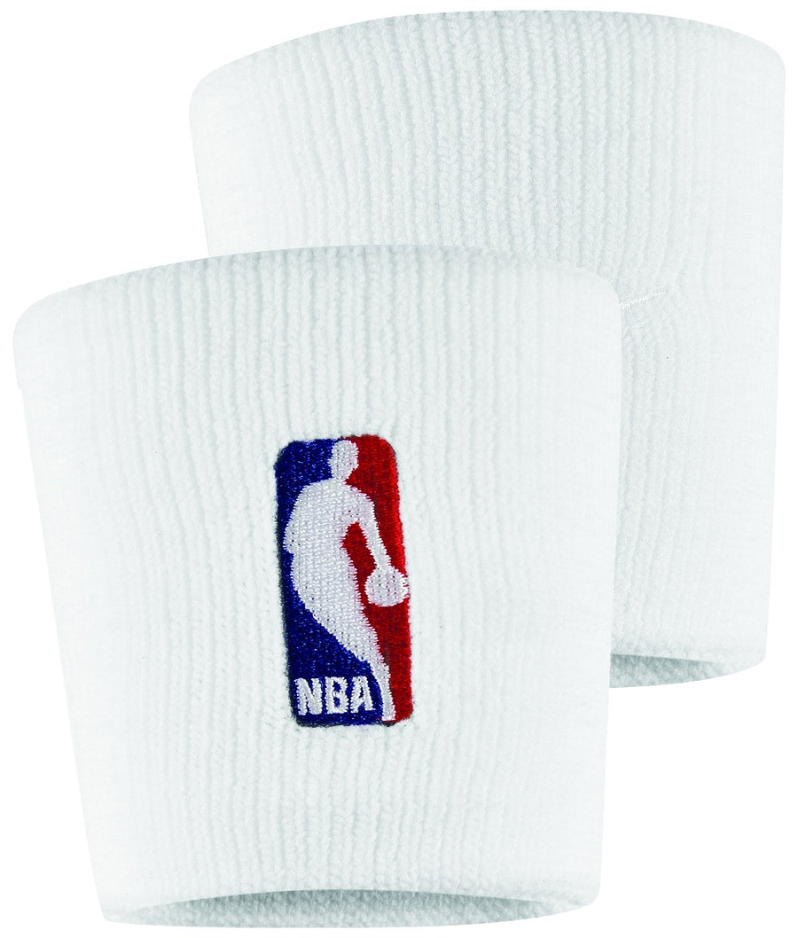 Nike White NBA Wristband Set