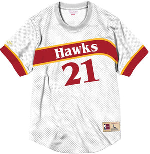 Mitchell & Ness Wilkins Mesh Jersey Short Sleeve Crewneck
