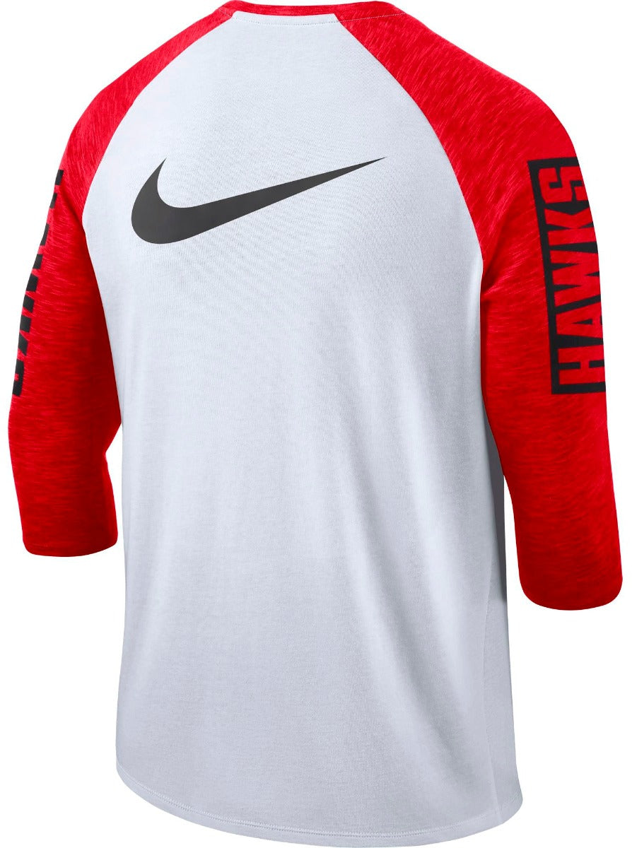 Nike Wordmark Quarter Sleeve Raglan Tee