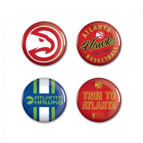 Hawks 4 Pack Buttons