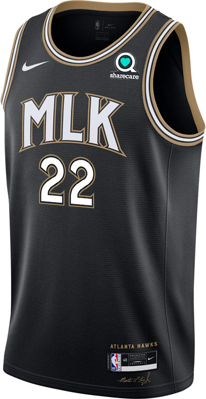 Reddish Nike MLK City Edition Swingman Jersey